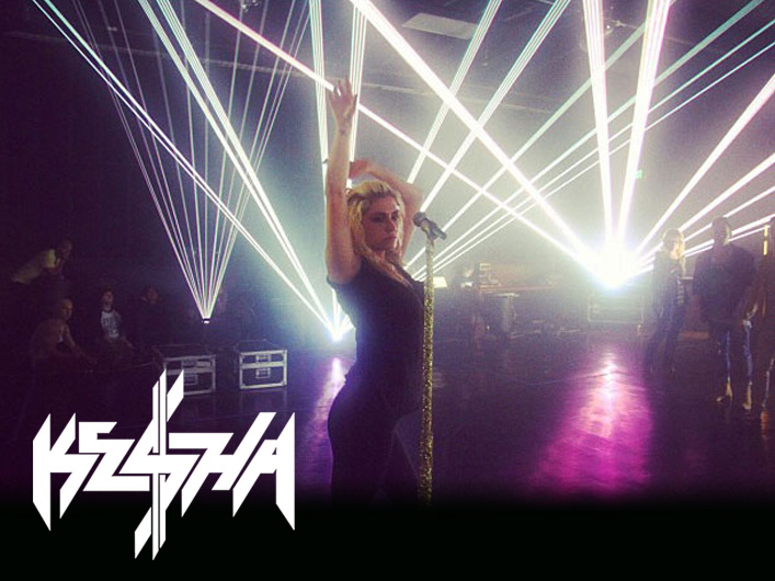 Lightwave International provides lasers for Ke$ha's live performance on X Factor US.