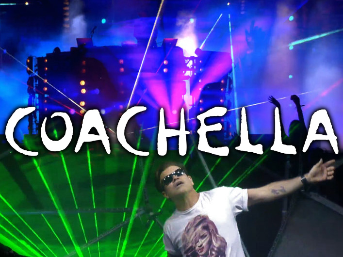 Lightwave International provides lasers for Coachella Festival 2013.