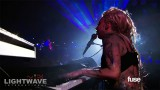 Lady Gaga performs on the SXSW Dorito's Boldstage with Lightwave International's lasers