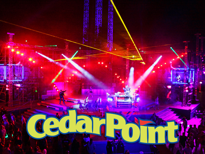 Cedar Point installs Lightwave International lasers for a daily attraction in Luminosity.