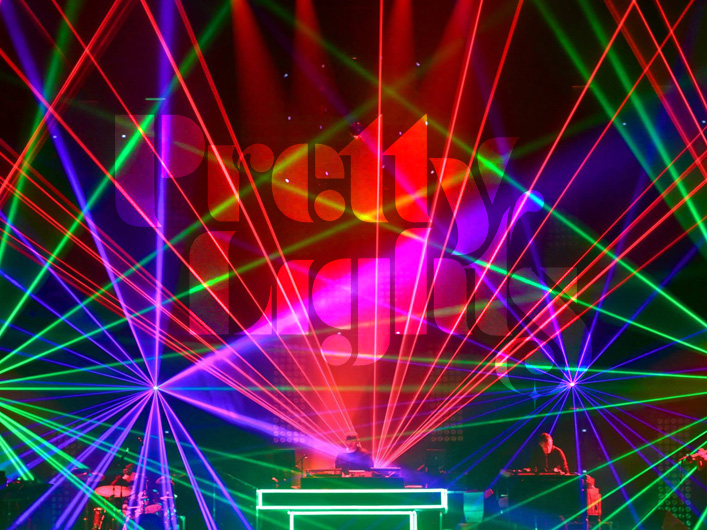 Lightwave International tours with Grammy nominated Pretty Lights providing audience scanning laser special effects.