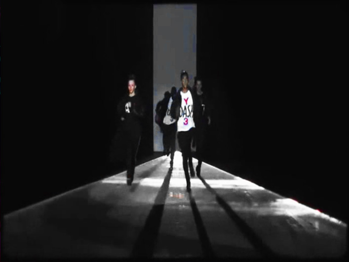 Y-3 Adidas Fashion Show Uses Lightwave International Laser Special Effects