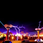 Coachella's festival skies are punctuated with outdoor full color laser special effects by Lightwave International