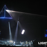 The Roger Waters Dark Side of the Moon World Tour featured Lightwave International lasers as a stunning audience scanning laser prism from the iconic album art