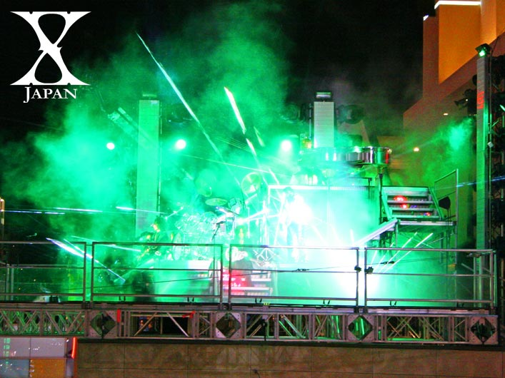 X Japan Jade Music Video Filmed with Lightwave International Laser Special Effects
